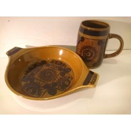 Stavanger Flint Sera 1960's Dish and Mug .