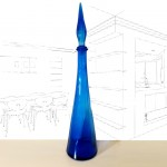 Tall Blue Vintage Genie Bottle.