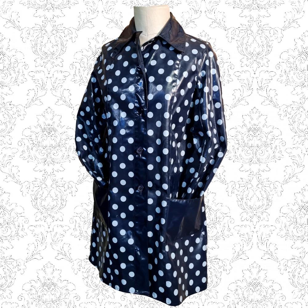 1960's Blue Spotty Richard Shops Rain Mac