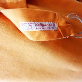 1960's Style Orange Mini Dress With Belt
