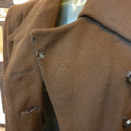 1940's CC41 Brown Wool Coat