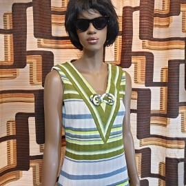 1960's Striped Summer Dress