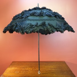 1901 Victorian Mourning Parasol