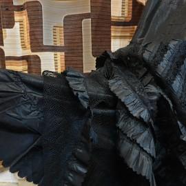 1900's Black Parisienne Lace Underskirt