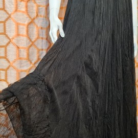 1940's Black Lace and Net Gown
