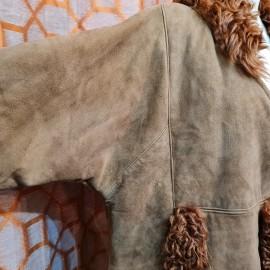 Vintage Mongolian Sheepskin Coat