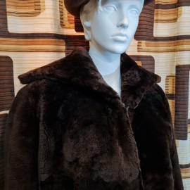 1950's 'Teddy Bear' Beaver Lamb Coat