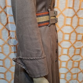 1970's Wallis Brown Military Style Coat