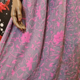 1930's Style Pink and Grey Silk Dress