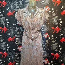 1930's Dragon Print Silk Dress