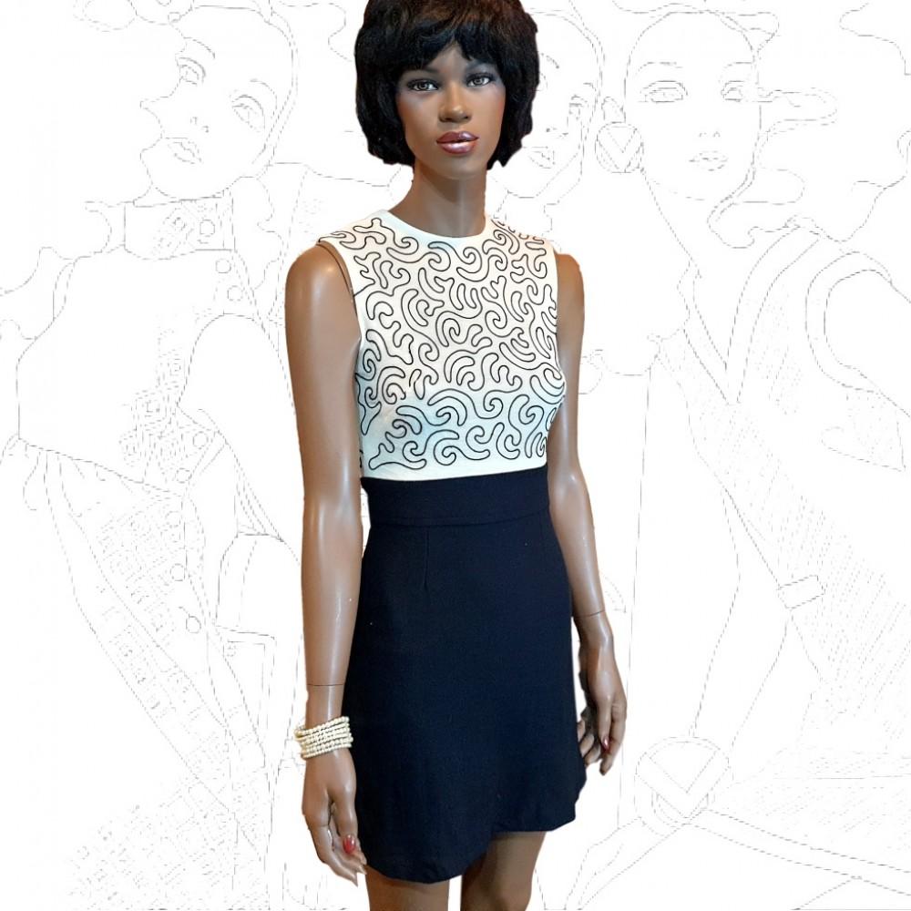 1960's Shubette Of London Mini Dress