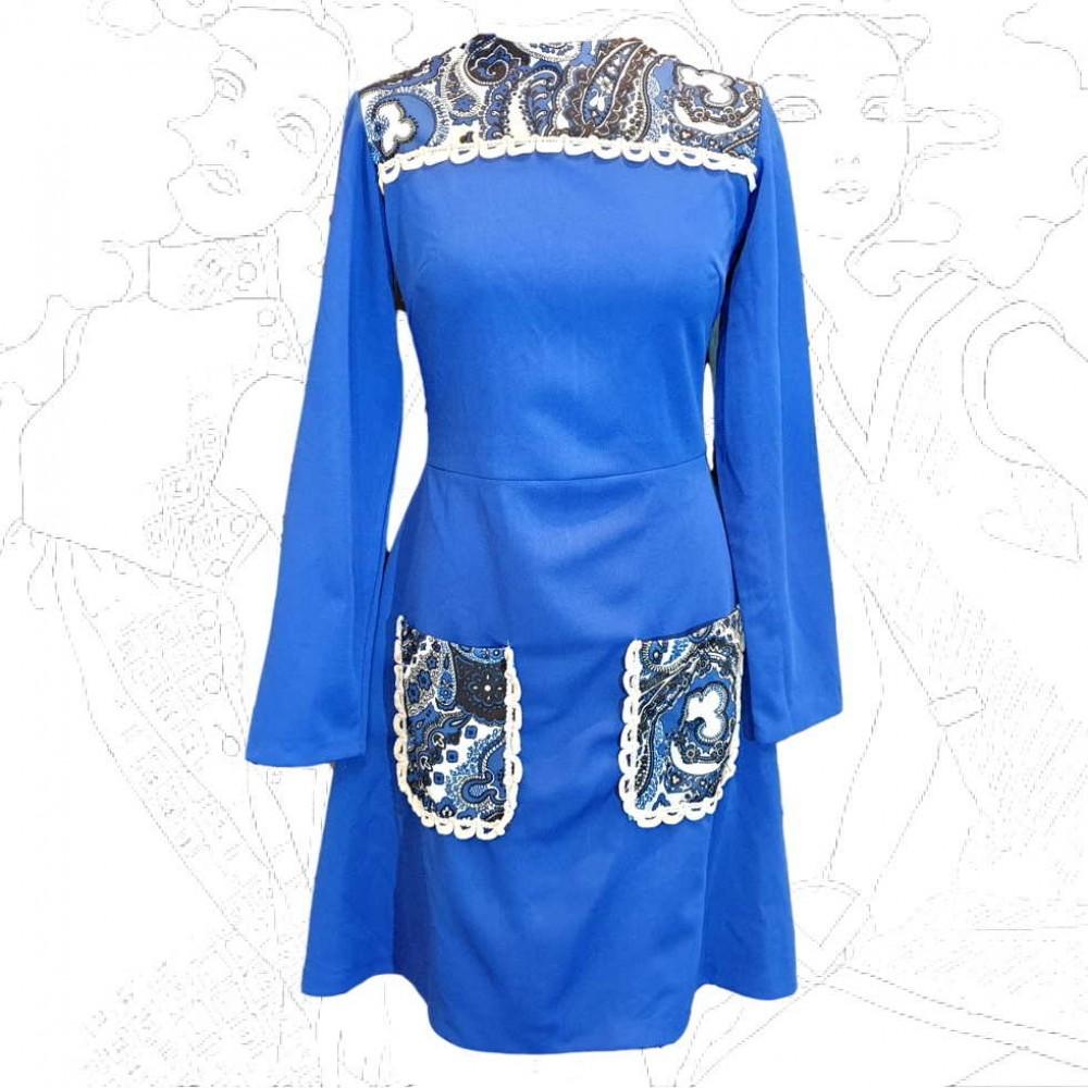 1960's Blue Mini Dress