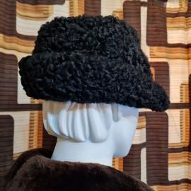 Vintage Black Astrakhan Trilby