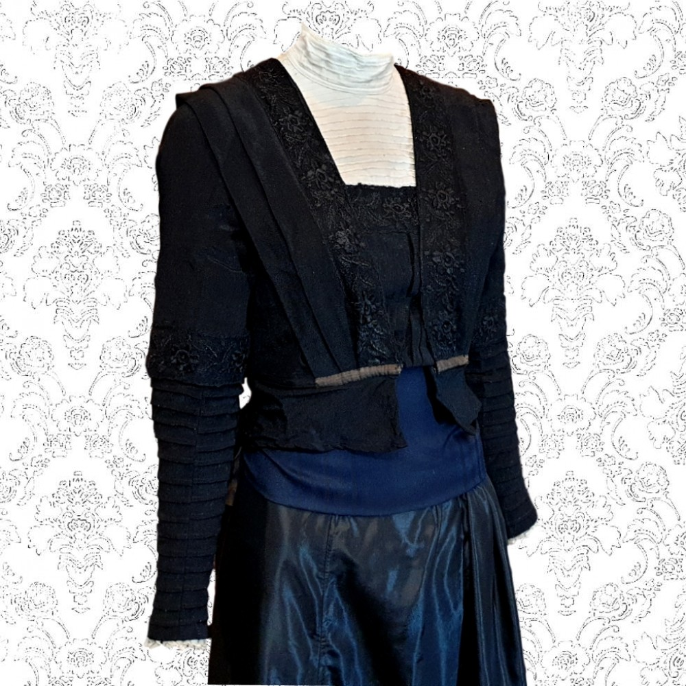 1900's Black Victorian Bodice Jacket