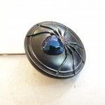 Art Deco Glass Spider Hat Pin