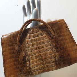 Vintage Crocodile Skin Handbag