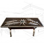 1960's Fern Tiled Coffee Table