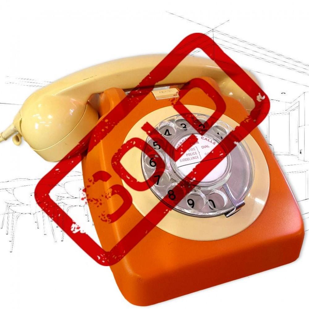 GPO 746 Orange & Cream Telephone