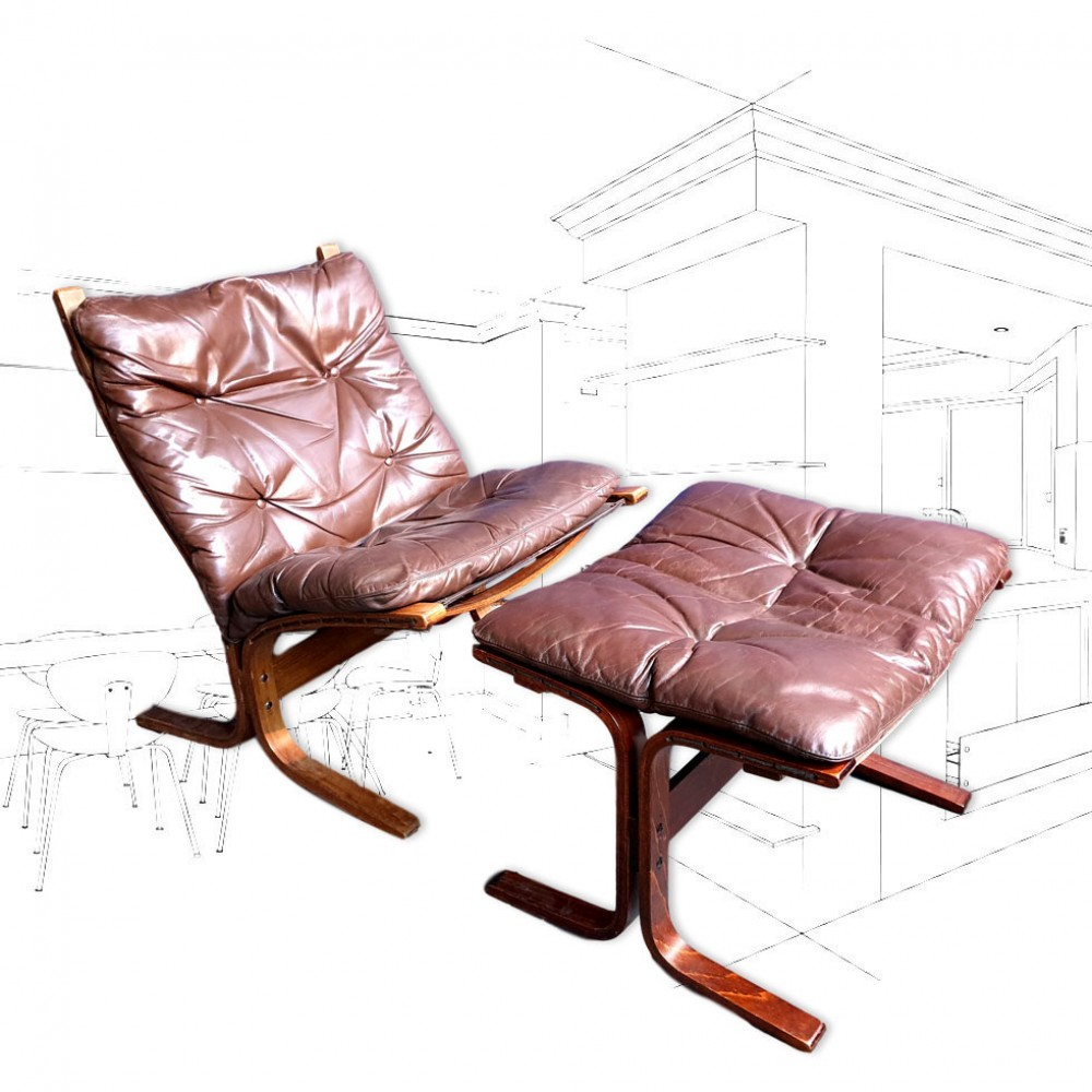 Ingmar Relling 'Siesta' Chair and Stool