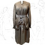 1930's Lilla Silk Smock Dress .