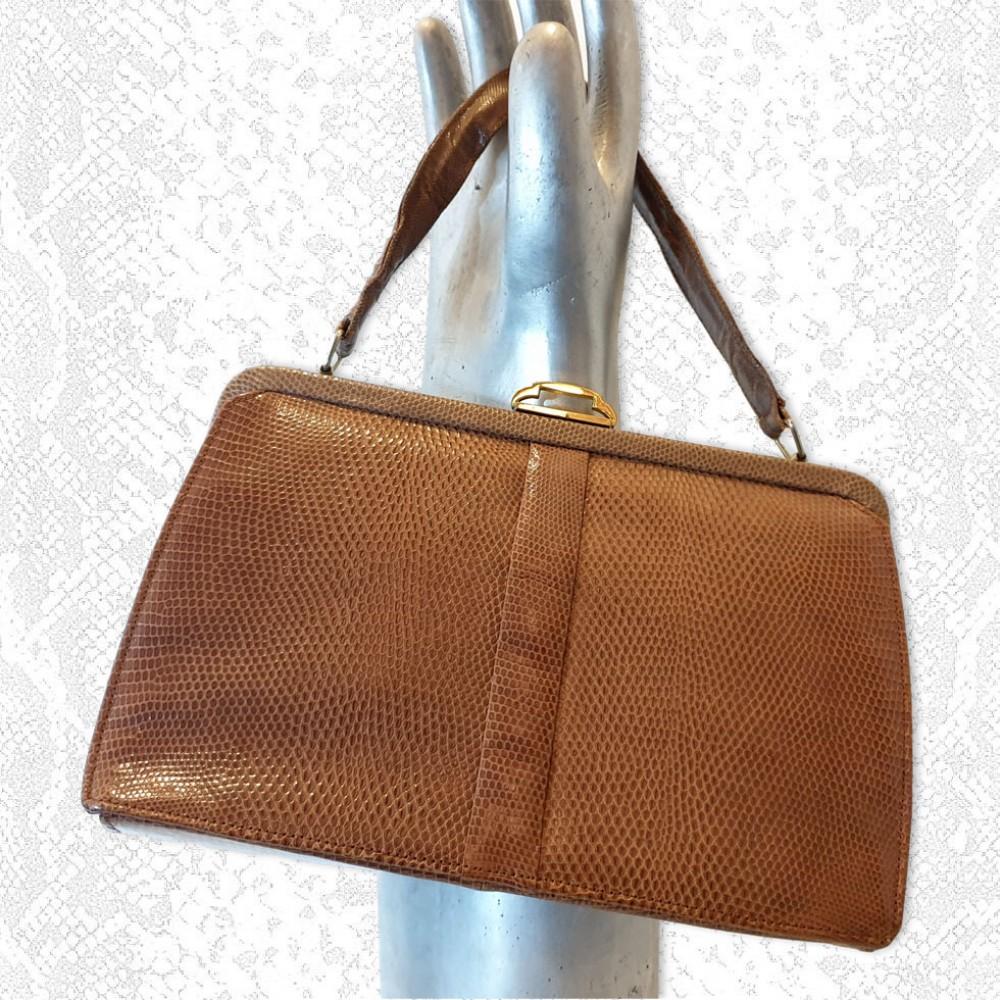 Vintage Mappin & Webb Lizard Skin Handbag