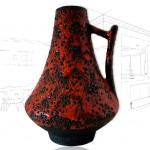 Large West German vase by Jopeko .