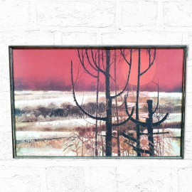 Ripley Red Trees Framed Picture .