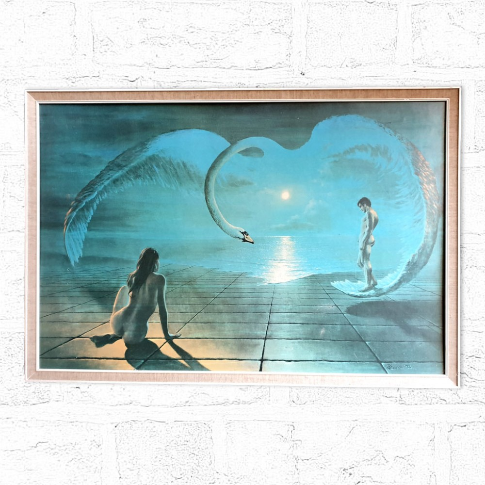 Wings of Love - Pearson Classic Kitsch Print .